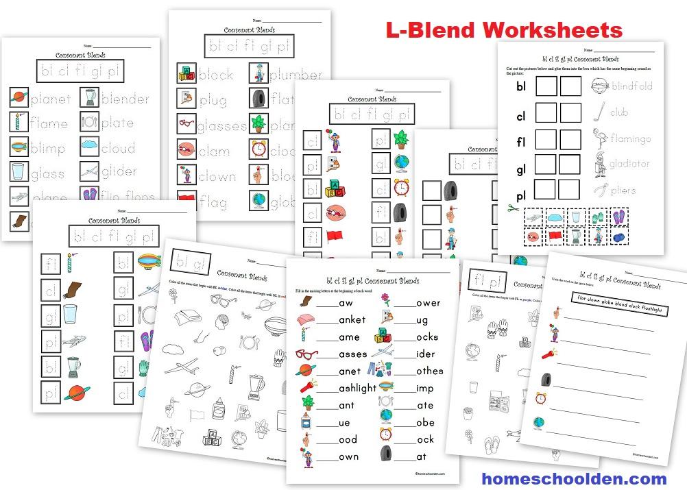 L-Blend Worksheets