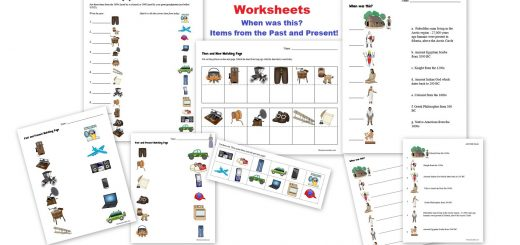 Then and Now Worksheets - Items from the Past and Present