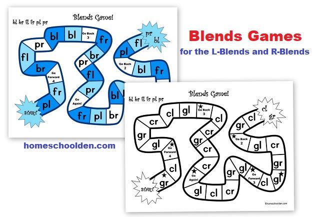 Consonant Blends Games for L-Blends and R-Blends