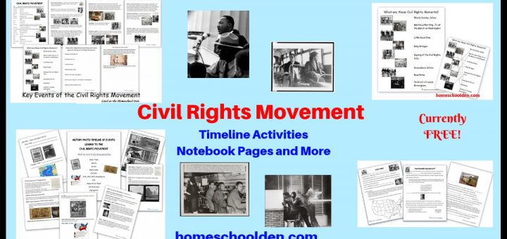 Civil Rights Movement Timeline Activity Notebook Pages Worksheets