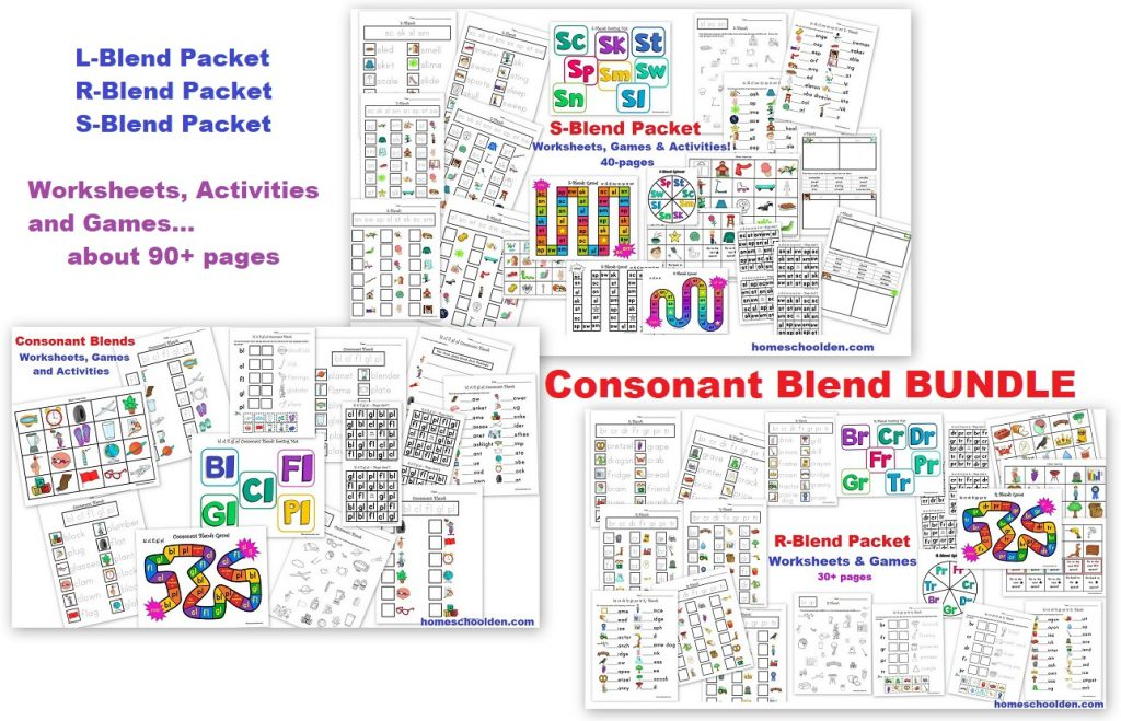 Consonant Blend BUNDLE - L-BLends R-Blends S-Blends