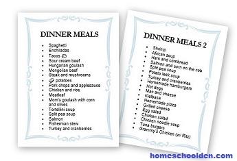 Dinner Meals