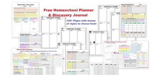 Free Homeschool Planner - Weekly Homeschool Planning Pages and More