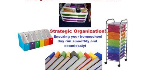 Homeschool Organization - Dealing with our Homeschool Stuff
