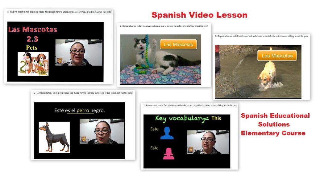 Spanish Video Lesson - Spanish Educational Solutions