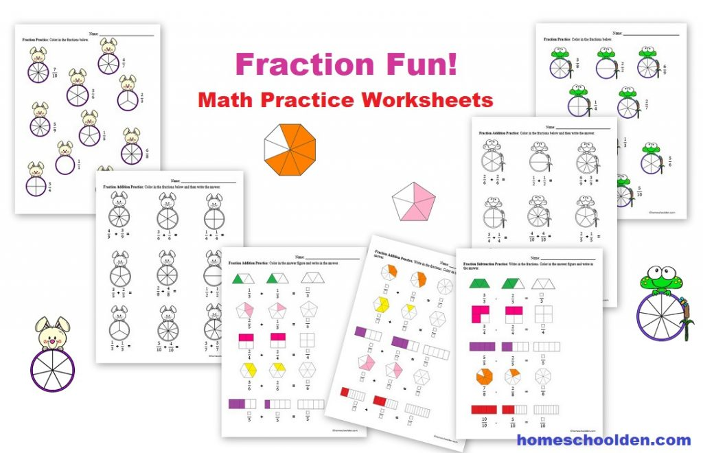 Fraction Math Practice Worksheets