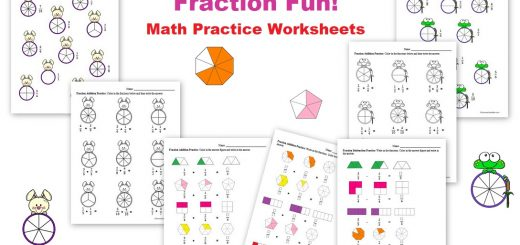 Fraction Math Practice Worksheets