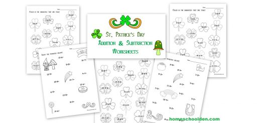 St. Patricks Day - Shamrock - Addition Subtraction Practice