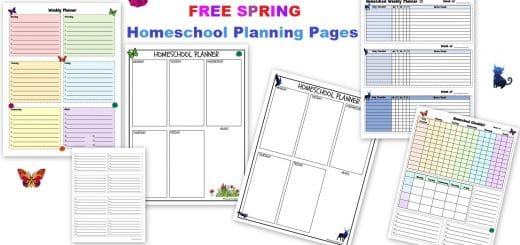 Free Spring Homeschool Planning Pages