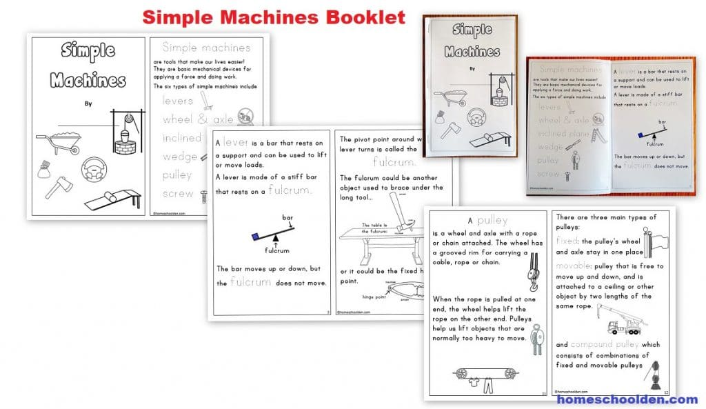 Simple Machines Booklet - Simple Machines Unit