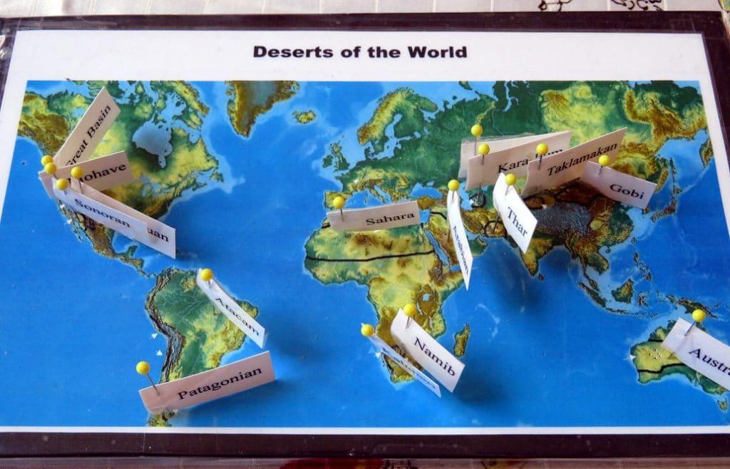 deserts pin map
