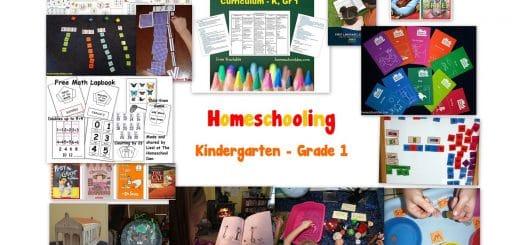 Homeschooling Kindergarten - Grade 1
