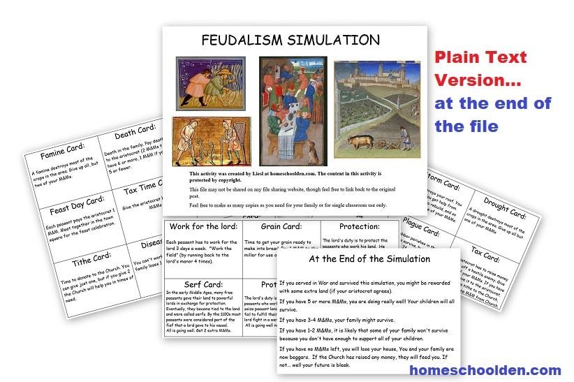 Feudalism Simulation - Plain Text Version