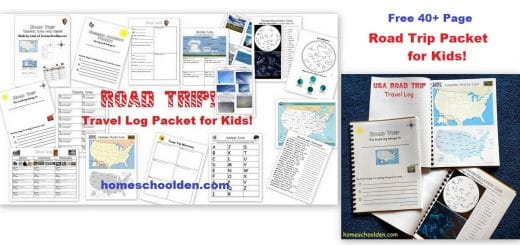 Free Road Trip Activity Packet