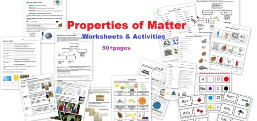 Properties of Matter Worksheets Activities - elements compounds solutions
