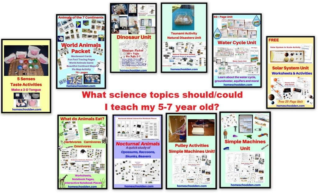 What science topics could I teach my 5-7 year old - Homeschool Science Curriculum