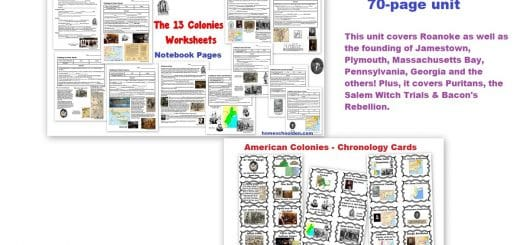 13 Colonies Worksheet Packet