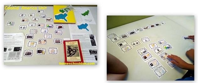 Colonial America Chronolgy Cards