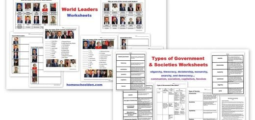 Types of Government Worksheets - Leaders of the World Worksheets