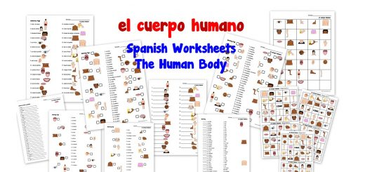 el cuerpo humano - Spanish Worksheets for Kids