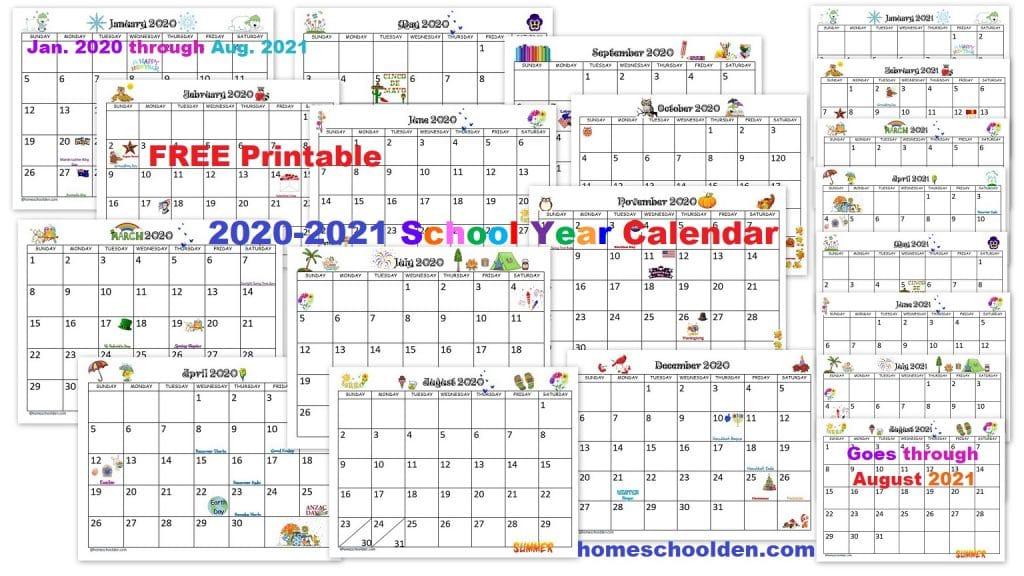 Free Printable 2020-2021 Calendar