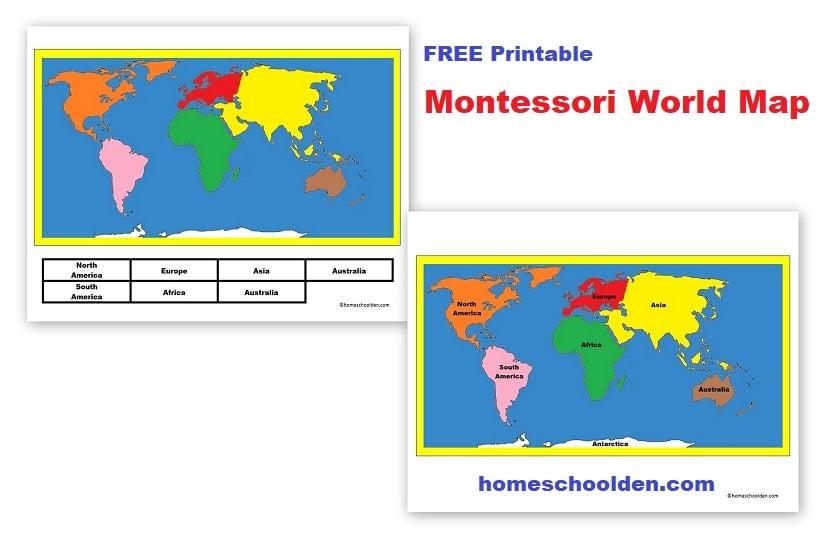 Free Printable Montessori World Map