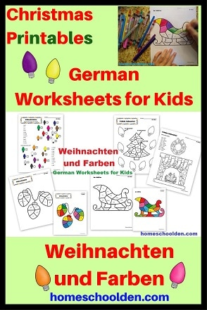 German Christmas Worksheets - Weihnachten und Farben