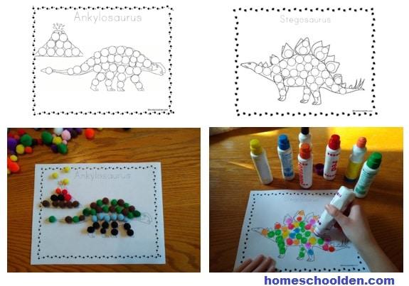 DInosaur Do-a-Dots Activities