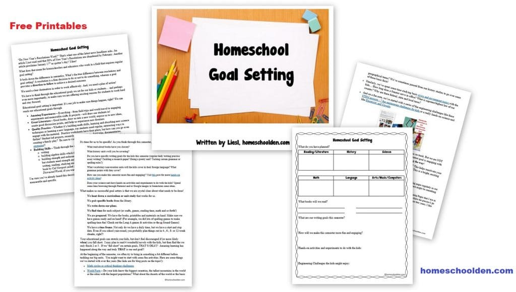 Homeschool Goal Setting - Free Printables