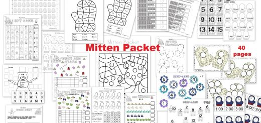 Mitten Activities Packet ages 4-6