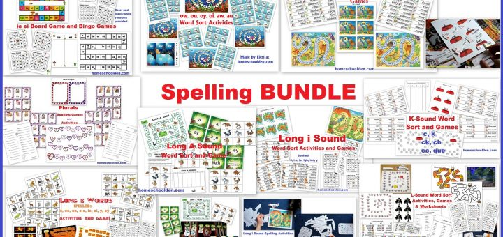 Spelling BUNDLE - Activities and Games