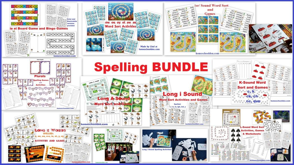Spelling BUNDLE - Activities and Games