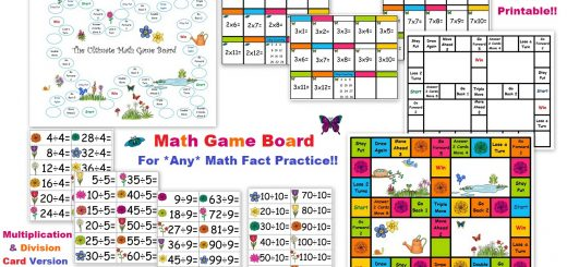 FREE Math Game Board - Multiplication Division