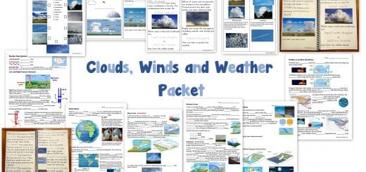Clouds Winds Weather Worksheets - Packet