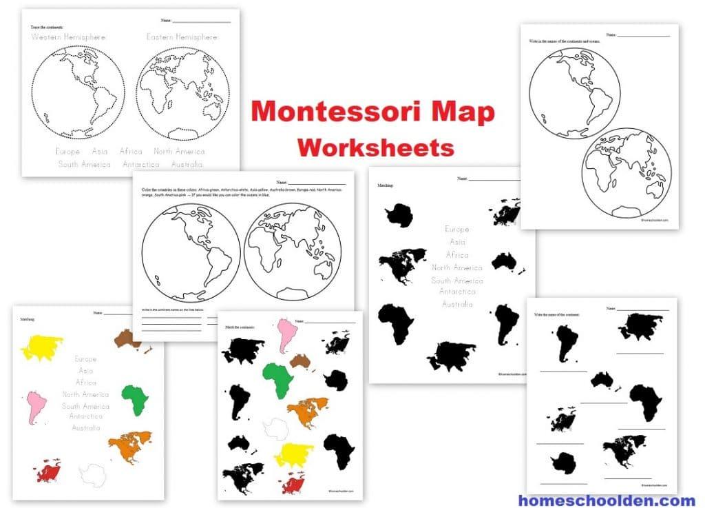 Montessori Map Worksheets