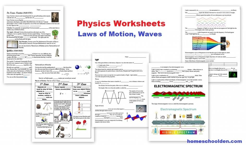 Physics Worksheets
