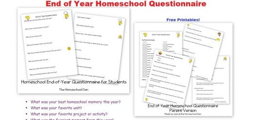 End of Year Homeschool Questionnaire