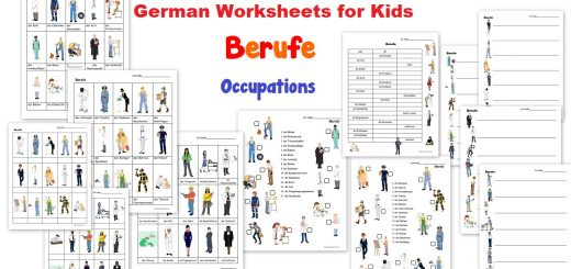 German Worksheets for Kids - Berufe - Occuapations and Jobs worksheets