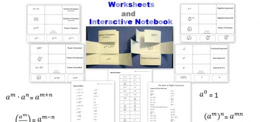 Exponent Rules Worksheets and Interactive Notebook FREE Printable