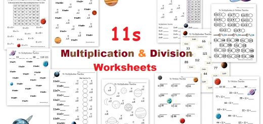 11s Multiplication and Division Worksheets - Skip Counting by 11s