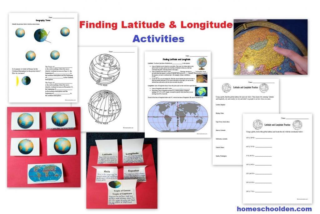 Latitude - Longitude Activities and Worksheets