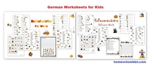 German Worksheets - Fall and Halloween - Herbst
