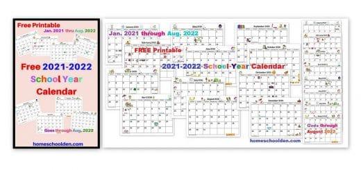 Free 2021-2022 Printable Calendar pdf