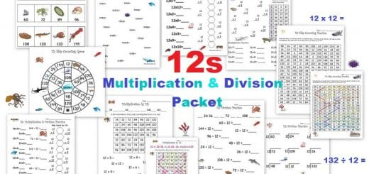 12s Multiplication and Division Packet