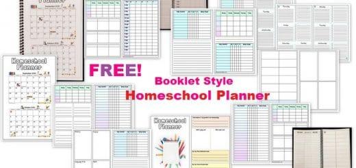 Free Homeschool Planner - Booklet Half-Page
